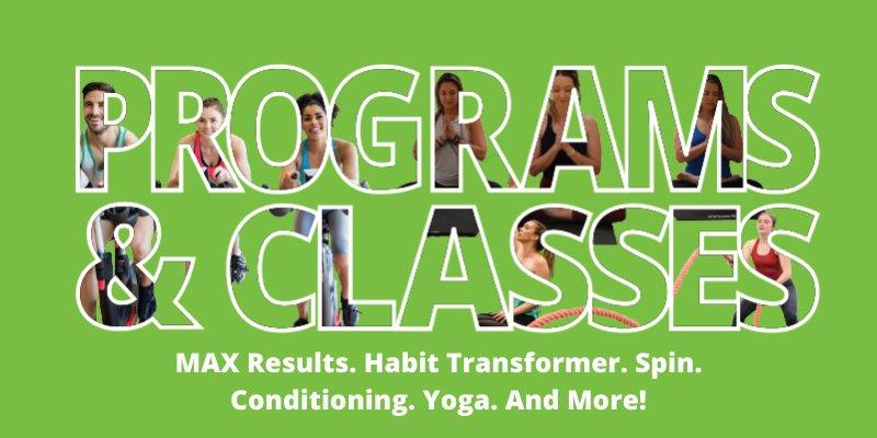 MAX Programs and Glasses Button Graphic